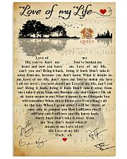 Love of my life 11x17 Poster front