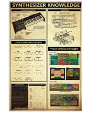 SYNTHESIZER KNOWLEDGE 11x17 Poster front