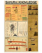 SAMURAI KNOWLEDGE 24x36 Poster front