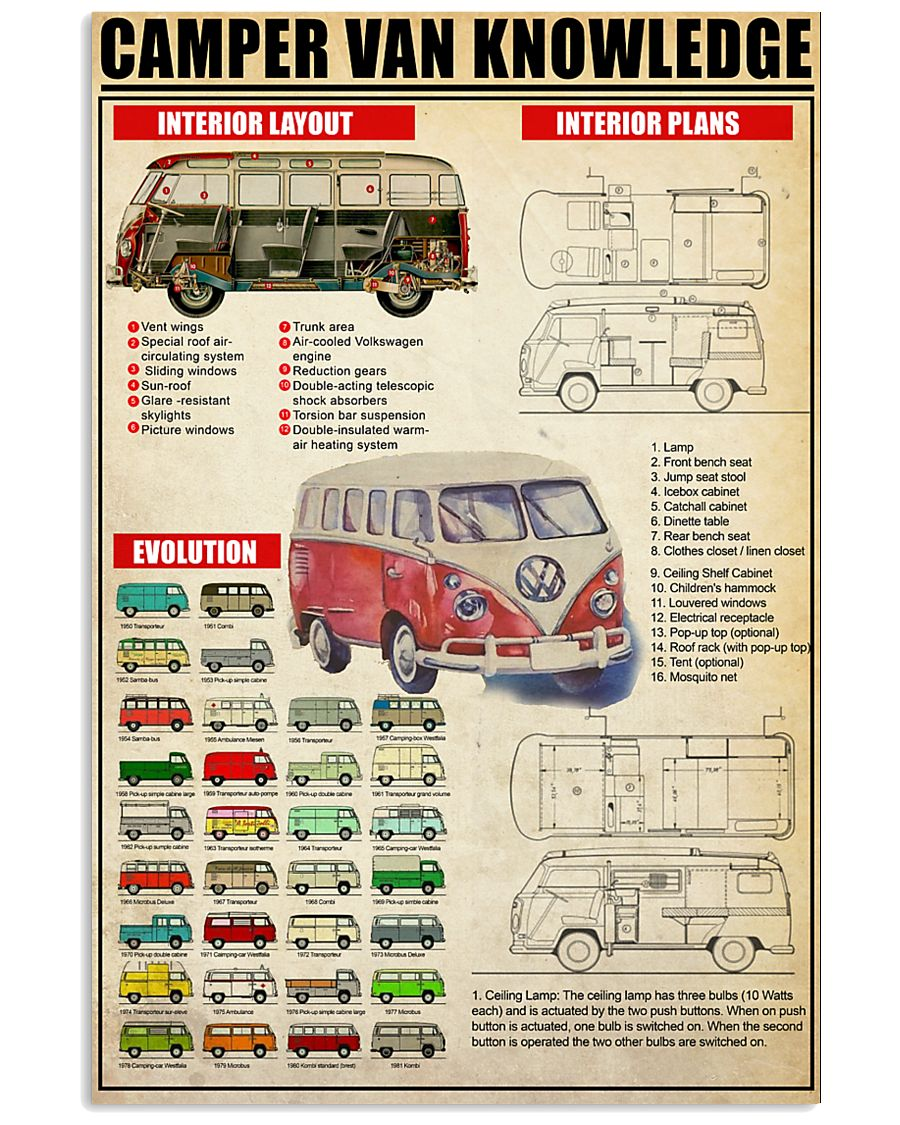 camping bus 11x17 Poster