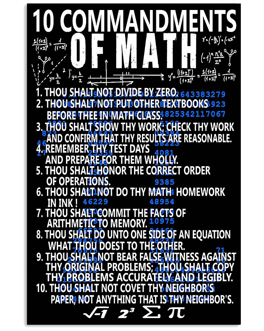 TEACHERS MATH 11x17 Poster