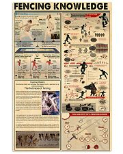 FENCING KNOWLEDGE 24x36 Poster front