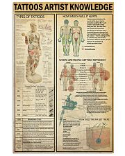 TATTOOS ARTIST 24x36 Poster front