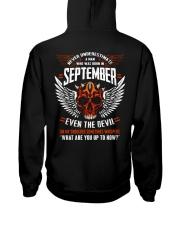 SEPTEMBER - EVEN THE DEVIL Hooded Sweatshirt back