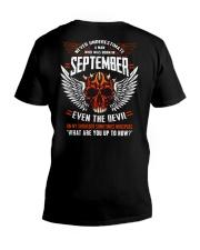 SEPTEMBER - EVEN THE DEVIL V-Neck T-Shirt thumbnail