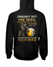 JANUARY - THE DEVIL BEER Hooded Sweatshirt back