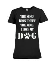I LOVE MY DOG Premium Fit Ladies Tee thumbnail