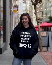 I LOVE MY DOG Hooded Sweatshirt lifestyle-unisex-hoodie-front-2