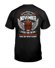 NOVEMBER - EVEN THE DEVIL Premium Fit Mens Tee thumbnail