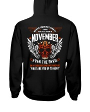 NOVEMBER - EVEN THE DEVIL Hooded Sweatshirt back