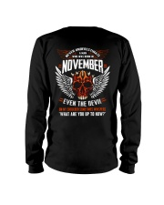 NOVEMBER - EVEN THE DEVIL Long Sleeve Tee thumbnail