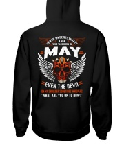 MAY - EVEN THE DEVIL Hooded Sweatshirt back