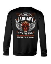 JANUARY - EVEN THE DEVIL Crewneck Sweatshirt thumbnail