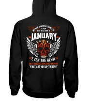 JANUARY - EVEN THE DEVIL Hooded Sweatshirt back