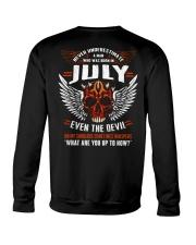 JULY - EVEN THE DEVIL Crewneck Sweatshirt thumbnail