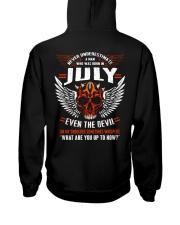 JULY - EVEN THE DEVIL Hooded Sweatshirt back