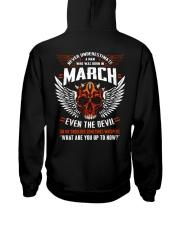 MARCH - EVEN THE DEVIL Hooded Sweatshirt back