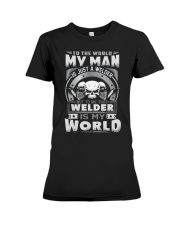 I am A welder 5 Premium Fit Ladies Tee tile