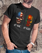 My home and My Blood Classic T-Shirt lifestyle-mens-crewneck-front-4