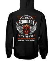 FEBRUARY - EVEN THE DEVIL Hooded Sweatshirt back