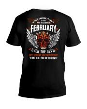 FEBRUARY - EVEN THE DEVIL V-Neck T-Shirt thumbnail
