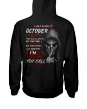 OCTOBER - YOUCALL Hooded Sweatshirt back