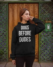 DOGS BEFORE DUDES Hooded Sweatshirt apparel-hooded-sweatshirt-lifestyle-02