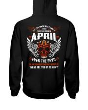 APRIL - EVEN THE DEVIL Hooded Sweatshirt back