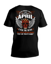 APRIL - EVEN THE DEVIL V-Neck T-Shirt thumbnail