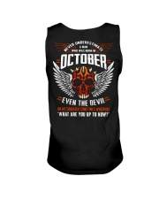 OCTOBER - EVEN THE DEVIL Unisex Tank tile
