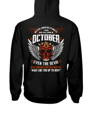 OCTOBER - EVEN THE DEVIL Hooded Sweatshirt back