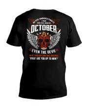 OCTOBER - EVEN THE DEVIL V-Neck T-Shirt tile