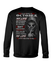 OCTOBER - MY LIFE Crewneck Sweatshirt thumbnail