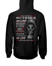 OCTOBER - MY LIFE Hooded Sweatshirt back