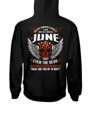 JUNE - EVEN THE DEVIL Hooded Sweatshirt back