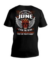 JUNE - EVEN THE DEVIL V-Neck T-Shirt thumbnail