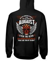 AUGUST - EVEN THE DEVIL Hooded Sweatshirt back