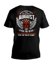 AUGUST - EVEN THE DEVIL V-Neck T-Shirt thumbnail