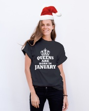 Birthday -January Birthday -January Birthday Shirt Classic T-Shirt lifestyle-holiday-crewneck-front-1