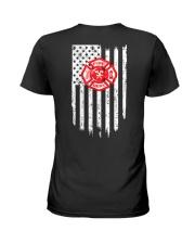 FIREFIGHTER FIREFIGHTER FIREFIGHTER FIREFIGHTER  Ladies T-Shirt thumbnail