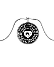 TO MY HUSBAND Metallic Circle Necklace front