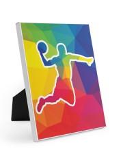 Basketball shooting Easel-Back Gallery Wrapped Canvas tile