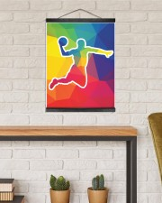 Basketball shooting 16x20 Black Hanging Canvas aos-hanging-canvas-16x20-lifestyle-front-03