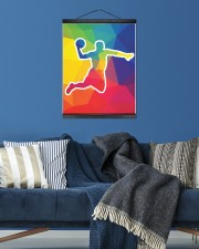 Basketball shooting 16x20 Black Hanging Canvas aos-hanging-canvas-16x20-lifestyle-front-05