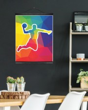 Basketball shooting 16x20 Black Hanging Canvas aos-hanging-canvas-16x20-lifestyle-front-07
