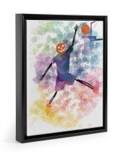 Basketball can play all haloween day 11x14 Black Floating Framed Canvas Prints thumbnail