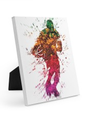 Basketball player 8x10 Easel-Back Gallery Wrapped Canvas thumbnail