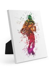 Basketball player Easel-Back Gallery Wrapped Canvas tile