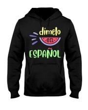Dimelo En Espanol Bilingual Spanish Teache Hooded Sweatshirt thumbnail