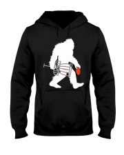 Bigfoot Disc Golf Cryptid Sasquatch Disc Go Hooded Sweatshirt thumbnail